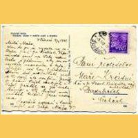 Rub pohlednice z roku 1942