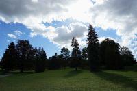 Pohled na zámecký park druhý den