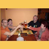 pokračovali jsme pivem
